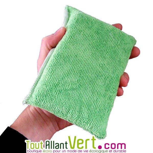 microfibre ponge verte pour laver et d poussi rer vitre miroir inox. Black Bedroom Furniture Sets. Home Design Ideas