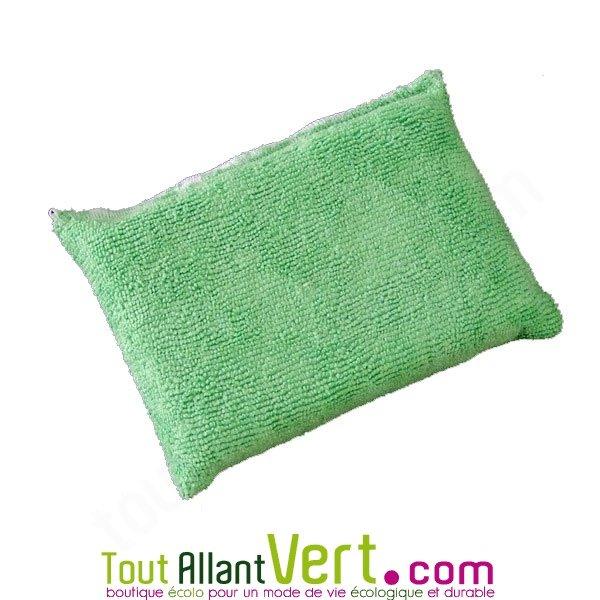 Microfibre ponge verte pour laver et d poussi rer vitre for Laver ses vitres sans traces