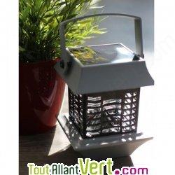 Lampe anti moustique solaire, electrocution grille lumi�re bleue