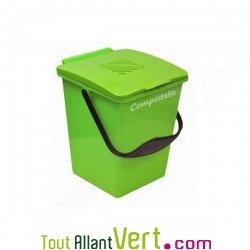 Seau avec filtre anti odeurs pour compost et poubelle de - Seau a compost pour cuisine ...