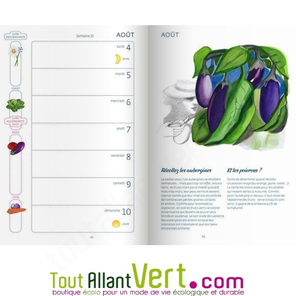 Agenda 2015 Du Jardinier Bio Et Calendrier Lunaire De Terre Vivante