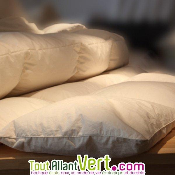 mille oreiller couette duvet d oie toutes saisons et coton biologique. Black Bedroom Furniture Sets. Home Design Ideas