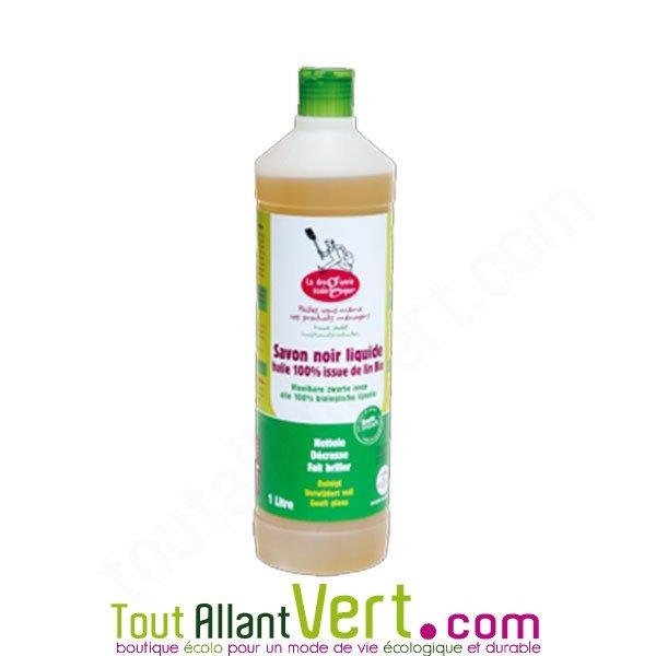 savon noir a l'huile de lin bio