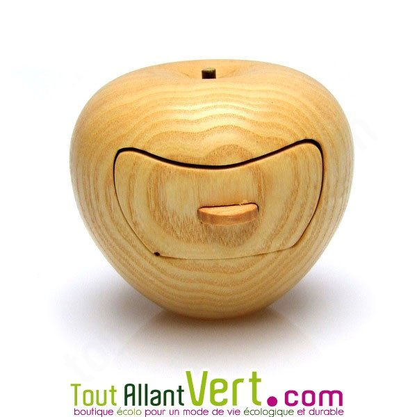 Exceptionnel Boite à bijoux forme pomme en bois de cerisier fabrication artisanale IB83