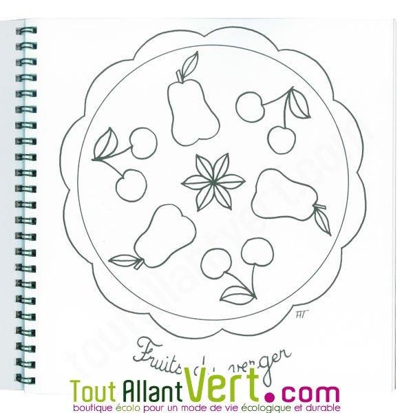 Coloriage mandala pour les petits 4 ans et sur papier recycl achat vente cologique - Coloriage tout petit ...