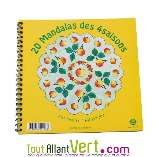 coloriage mandala des 4 saisons 6 ans et sur papier recyclé