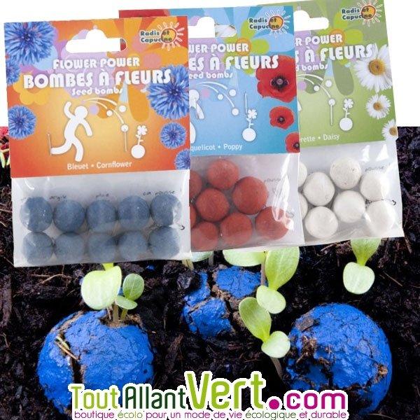 10 bombes graines flower power lancer pour fleurir partout achat vente cologique. Black Bedroom Furniture Sets. Home Design Ideas