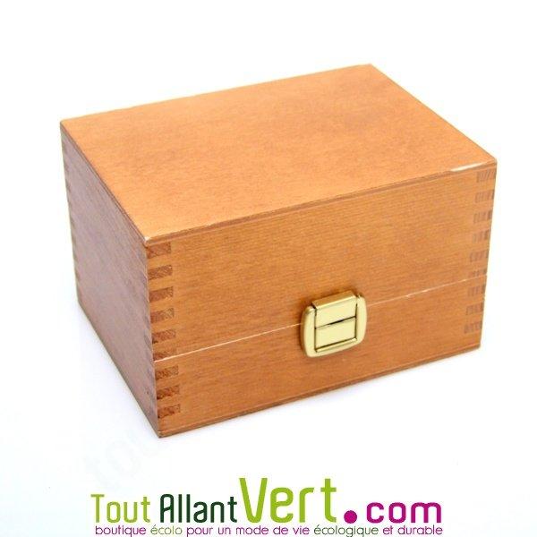 coffret bois rangement pour 6 huiles essentielles achat vente cologique acheter sur. Black Bedroom Furniture Sets. Home Design Ideas