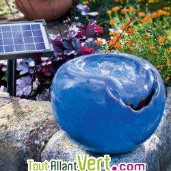 fontaine solaire boule bleue cascade lagon achat vente cologique acheter sur. Black Bedroom Furniture Sets. Home Design Ideas
