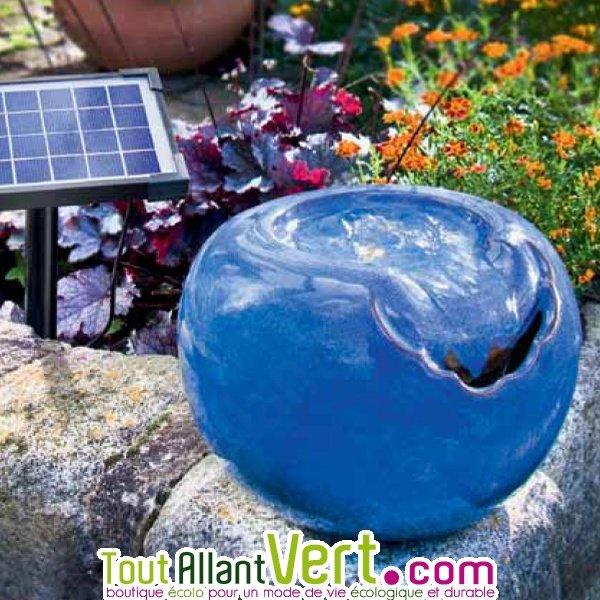 Fontaine solaire boule bleue cascade lagon achat vente - Fontaine a eau exterieur solaire ...
