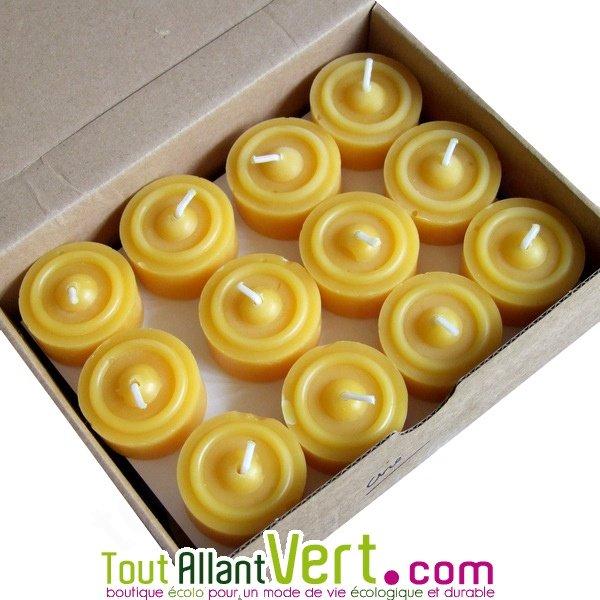 24 bougies veilleuses chauffe plat jaune en cire d abeille achat vente cologique acheter sur - Acheter cire de bougie ...