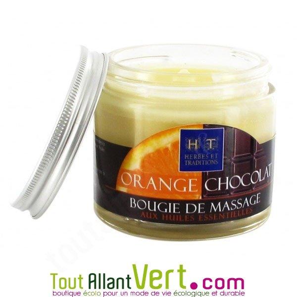 Bougie de massage orange et chocolat aux huiles essentielles herbes et traditions achat vente - Bougies naturelles aux huiles essentielles ...