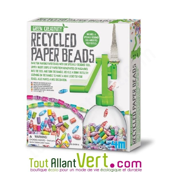 Kit pour fabriquer ses perles en papier recycl achat for Jewelry making kit for 4 year old