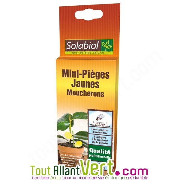 solabiol mini pi ge jaune moucherons pour plantes d int rieur. Black Bedroom Furniture Sets. Home Design Ideas