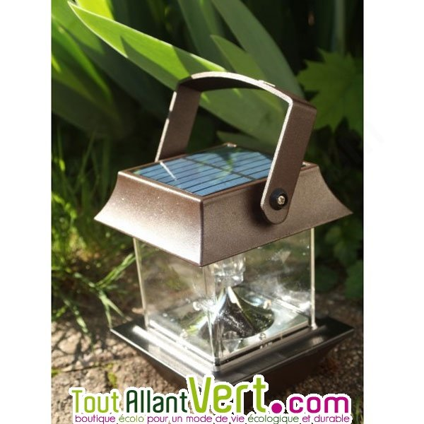 Lampe solaire pour table ou terrasse pagode for Lampe de terrasse solaire