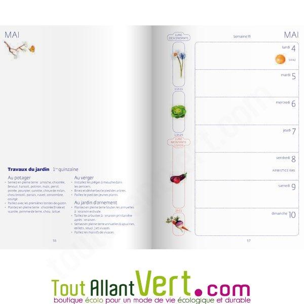 agenda 2015 du jardinier bio et calendrier lunaire de terre vivante. Black Bedroom Furniture Sets. Home Design Ideas