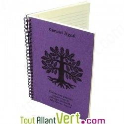 carnet lign violet a5 spirale 120 pages recycl es 90g. Black Bedroom Furniture Sets. Home Design Ideas