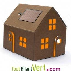 mini maison solaire en carton monter achat vente. Black Bedroom Furniture Sets. Home Design Ideas