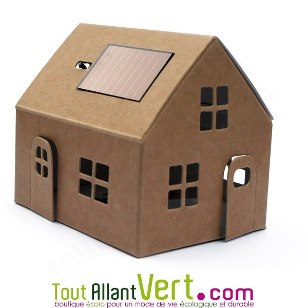 mini maison solaire en carton monter achat vente cologique acheter sur. Black Bedroom Furniture Sets. Home Design Ideas