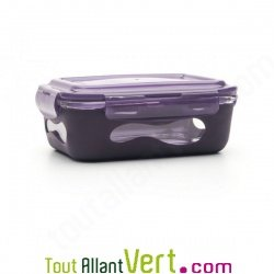 lunchbox et plat en verre avec sa protection silicone. Black Bedroom Furniture Sets. Home Design Ideas