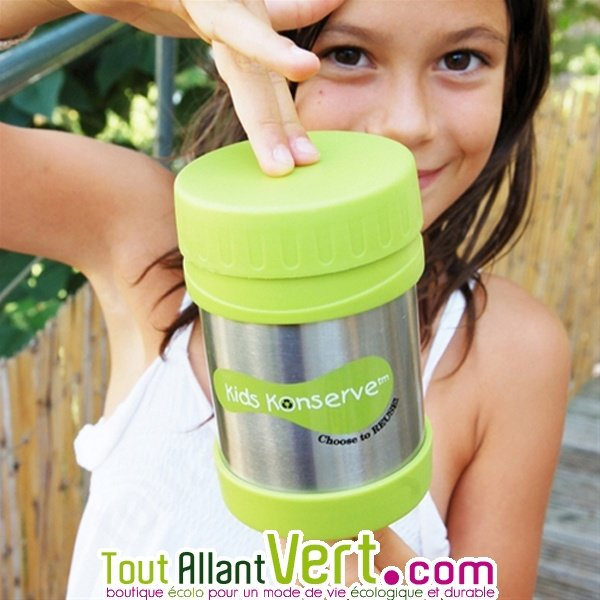 Boite repas isotherme inox b b et enfant vert 355ml - Boite repas enfant ...