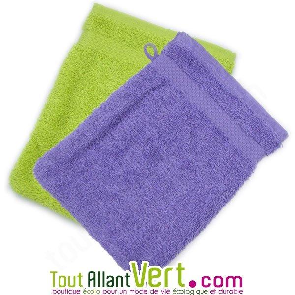 Gants de toilette en ponge de coton biologique 21x16cm achat vente cologique acheter sur - Gant de toilette exfoliant ...