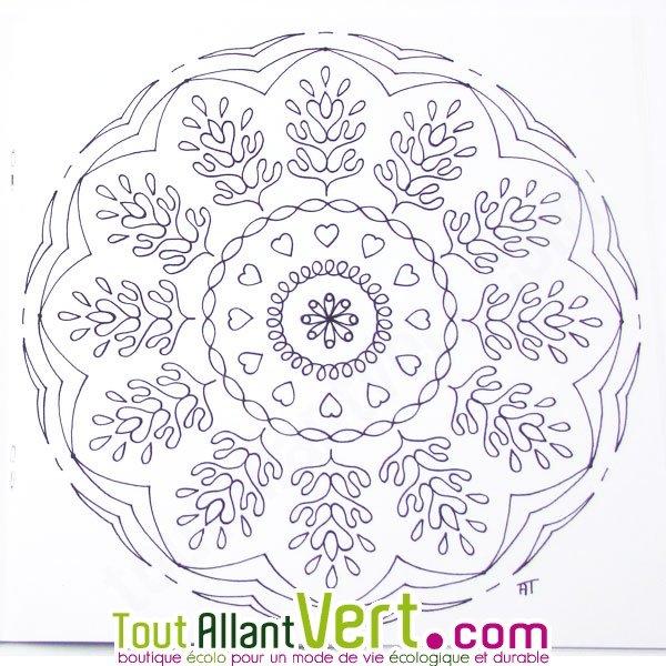 mandala dtente pour adultes coloriage en papier recycl - Coloriage Dtente