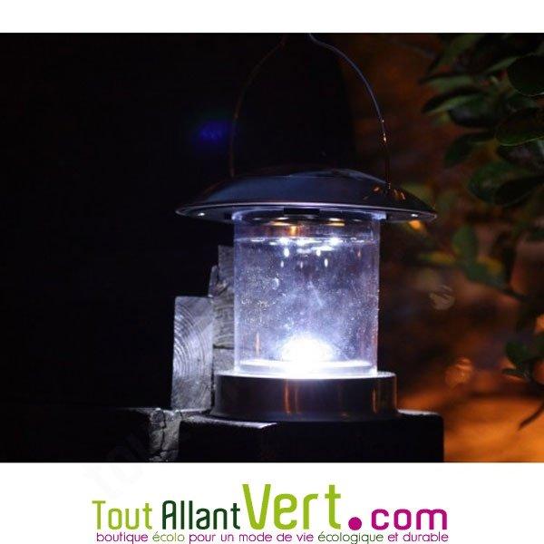 Lanterne inox clairage solaire pour table ou terrasse - Lanterne pour terrasse ...