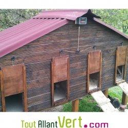 Ouverture automatique poulailler dikke houten balken - Porte automatique poulailler pas cher ...