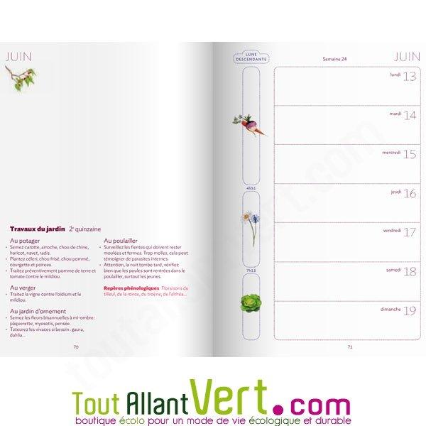 agenda du jardinier bio et calendrier lunaire 2016 de terre vivante. Black Bedroom Furniture Sets. Home Design Ideas
