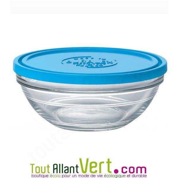 Saladier de conservation 14cm en verre rond avec couvercle - Saladier verre avec couvercle ...