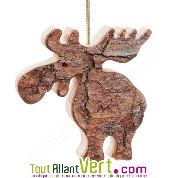 Suspension de no l en bois renne d coup dans un tronc d arbre achat vente cologique acheter - Renne de noel en bois ...