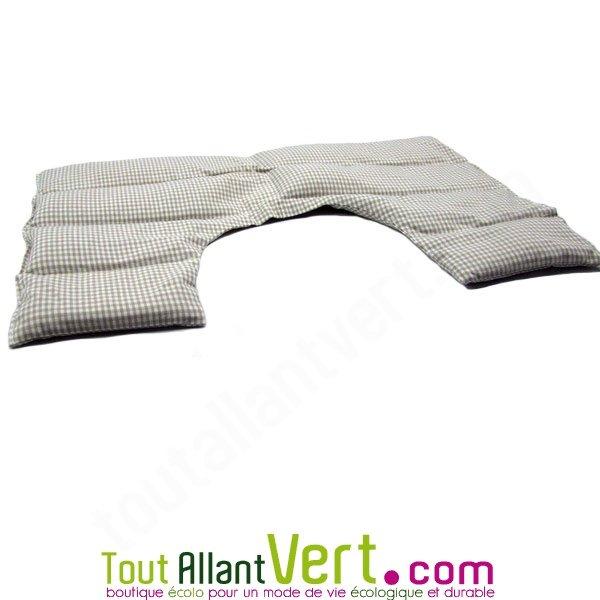 tour de cou chauffant aux graines d épeautre et coton bio, 45cm