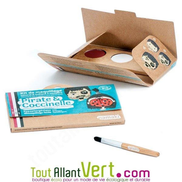 kit maquillage bio enfant 3 couleurs pirate et coccinelle achat vente cologique acheter sur. Black Bedroom Furniture Sets. Home Design Ideas