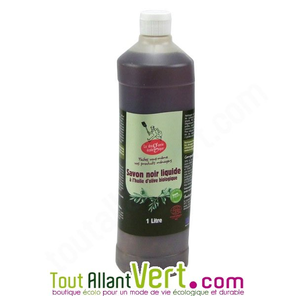 savon noir nettoyant liquide huile d olive et tournesol bio 1 litre. Black Bedroom Furniture Sets. Home Design Ideas