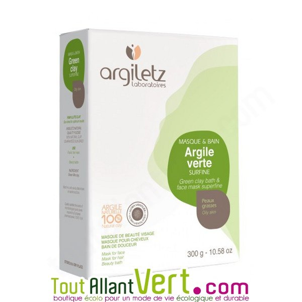 argile verte bio pour masque et bain peaux grasses 300g argiletz achat vente cologique. Black Bedroom Furniture Sets. Home Design Ideas