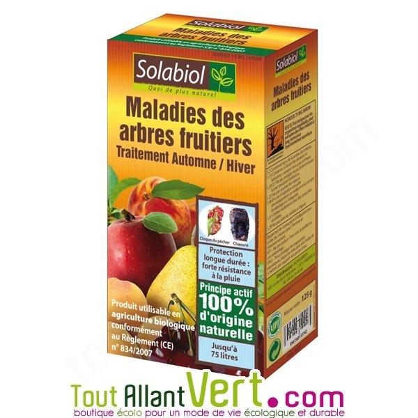 Anti maladies des arbres fruitiers traitement automne hiver solabiol 125g achat vente - Traitement arbres fruitiers ...