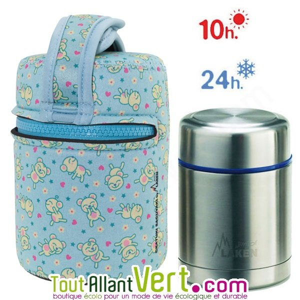 lunch box isotherme inox avec housse siouris bleue 0 5l achat vente cologique acheter sur. Black Bedroom Furniture Sets. Home Design Ideas