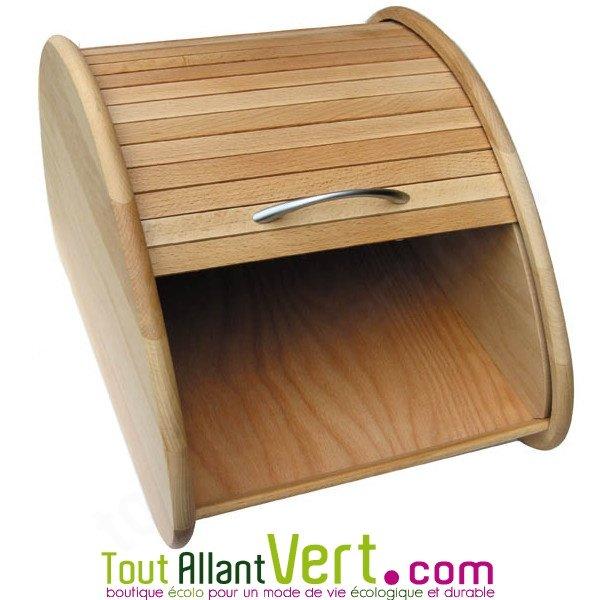 boite pain en bois naturel certifi fsc 30x40x22 achat vente cologique acheter sur. Black Bedroom Furniture Sets. Home Design Ideas