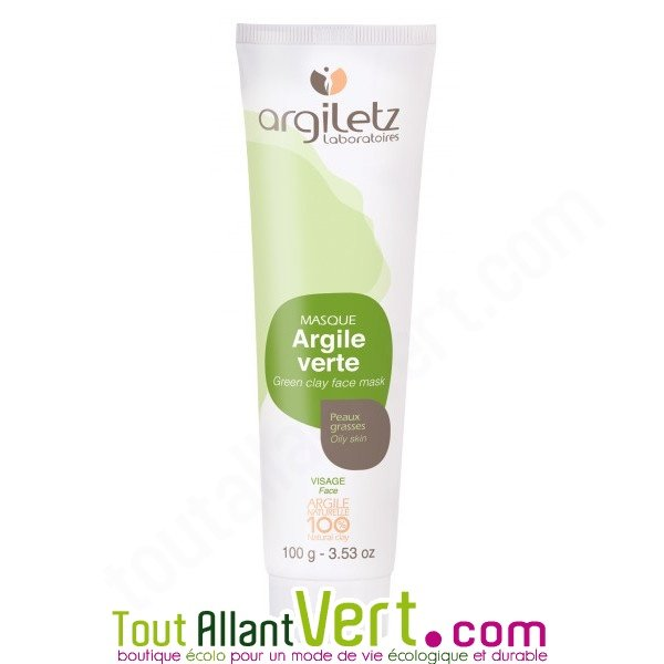 masque argile verte pour le visage peaux s ches 100g argiletz achat vente cologique. Black Bedroom Furniture Sets. Home Design Ideas