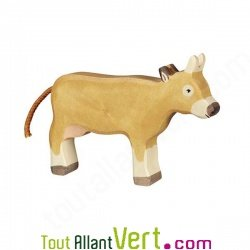 Vache marron en bois debout 12cm achat vente cologique for Achat maison belgique frais