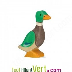Canard colvert en bois debout 6 5 cm holztiger achat for Achat maison belgique frais