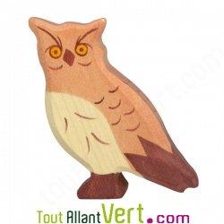 Hibou en bois grande figurine 6 5 cm achat vente for Achat maison belgique frais