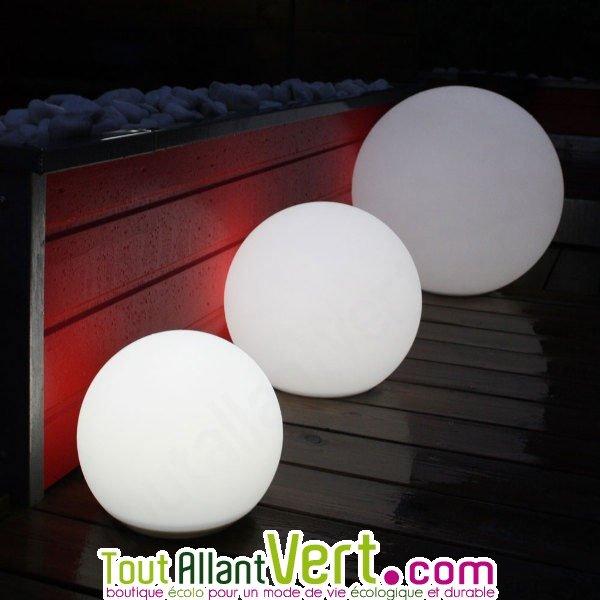 lampe ronde solaire clairage puissant pour ext rieur 56 cm watt home. Black Bedroom Furniture Sets. Home Design Ideas