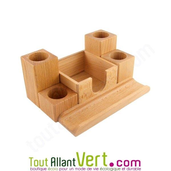 Porte crayon en bois 5 compartiments achat vente for Acheter porte en bois