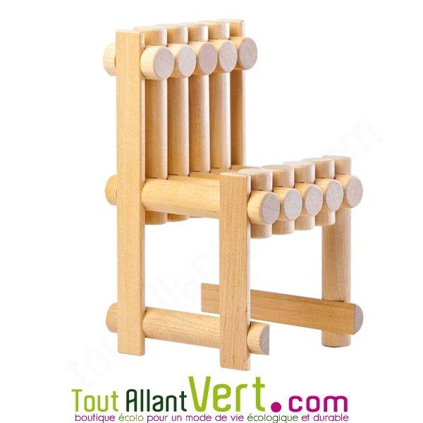 Kit de construction grand village en bois fsc 222 pi ces - Fabrication d une chaise en bois ...