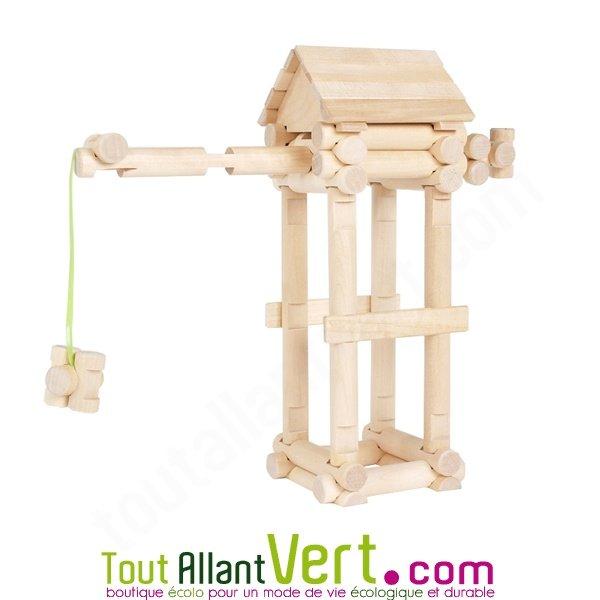 Construction Bois Kit : Kit de construction Grand Village en bois FSC 222 pi?ces Varis achat