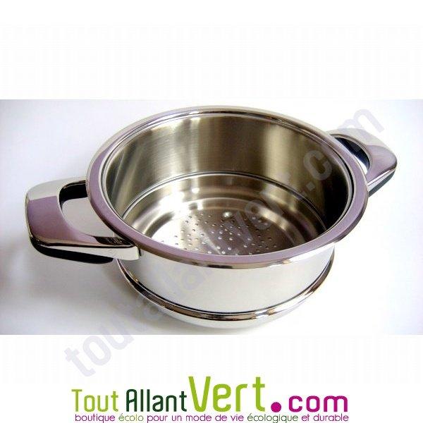 Abe panier vapeur en inox de qualit pour cuisson vapeur for Ustensiles de cuisine en inox 18 10