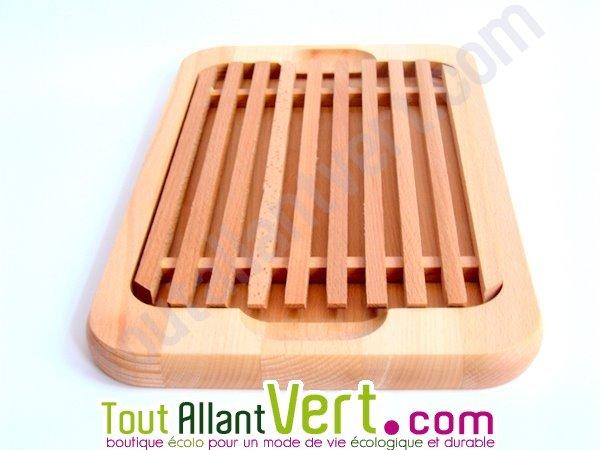 planche pain en bois de h tre fsc avec ramasse miettes achat vente cologique. Black Bedroom Furniture Sets. Home Design Ideas