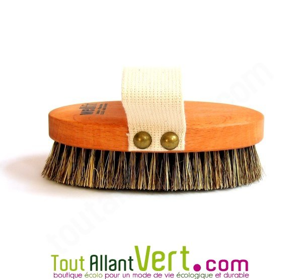 brosse de massage sec brevet e avec poign e bois et fibre v g tale. Black Bedroom Furniture Sets. Home Design Ideas